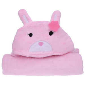 Big Baby Bath Towels Wrap Cartoon Animal Hooded Towel