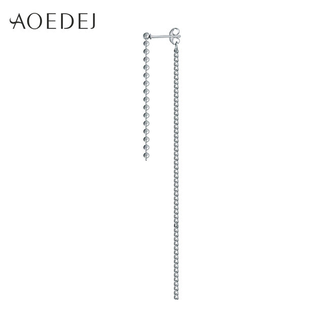 AOEDEJ 1pc V BTS Earrings Bangtan Boys DNA Real Sterling Silver 925 Earrings Womens Long Tassel Earring For Women Men Korean Pop