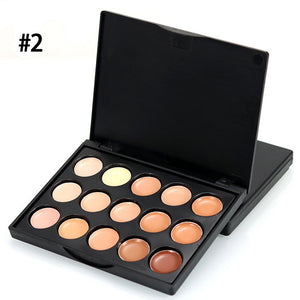 MIni 15 Colors Face Concealer Camouflage Cream Contour Palette