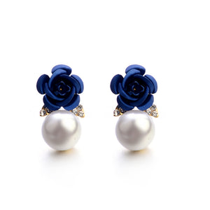 Jewelry Bohemia Flower Rhinestone  Earrings For Women Summer Style