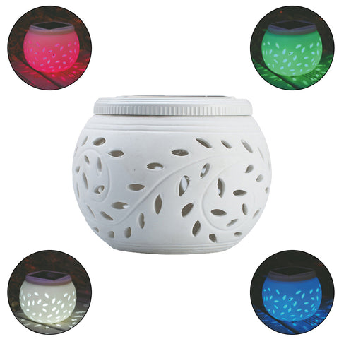 LED Solar Ceramic Table Lights Garden Lights Colorful Solar Night Lights