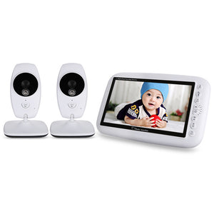 7.0 inch 2.4GHz Wireless TFT LCD 2 Cameras Video Baby Monitor