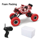 2.4G 4CH RC Car 4WD Rock Crawlers Climbing Car 4x4 Driving Car Double Motors Bigfoot Cars Remote Control Model Off-Road Vehicle