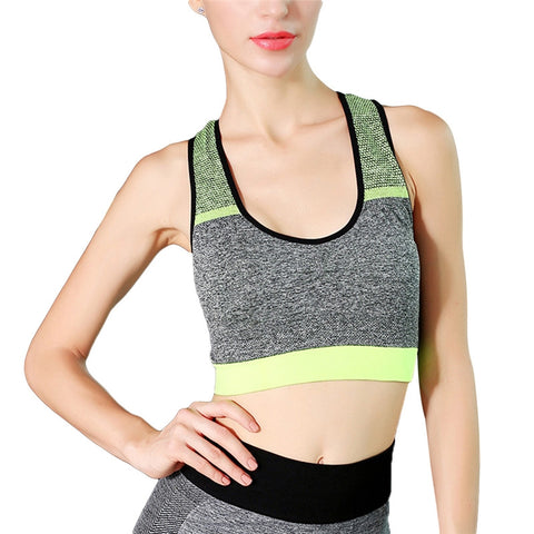 High Intensity Sports Bra Vest Seamless Stretchy Breathable FitnessTank