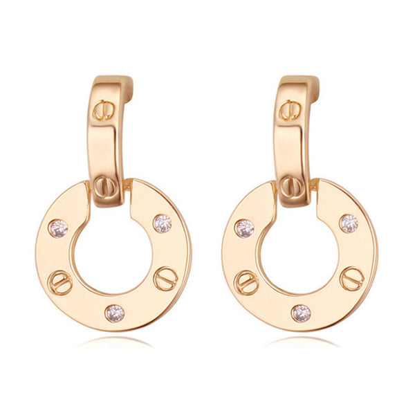 3 colors famous brands jewelry rose gold color plated designer earrings for women luxury best Christmas gift for ladies