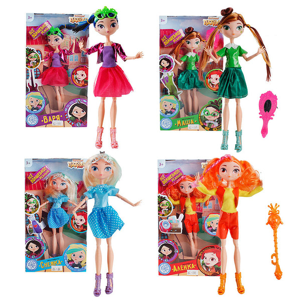 4pcs/set Fairy Patrol Doll 30cm PVC Russian Princess Anime Figurines Matryoshka Vinyl Doll Toys for girls