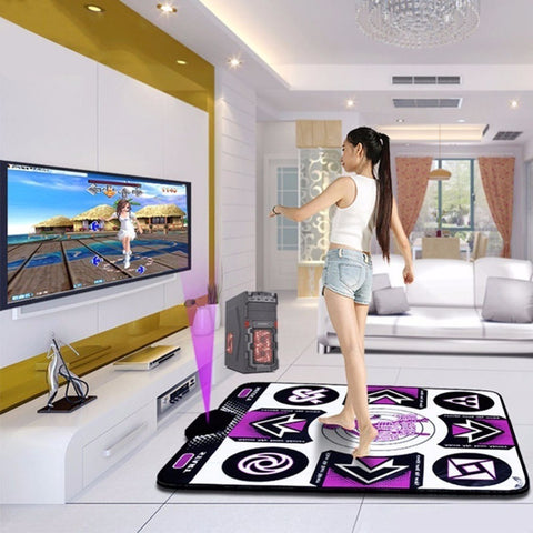 Single Wired Dancing Blanket Yoga Fitness Dance Machine Non-Slip Dance Mat Fitness Equipment to PC with USB US Plug