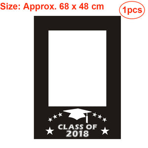 2018 Graduation Party Photo Booth Props Kit Glitter Photo Props