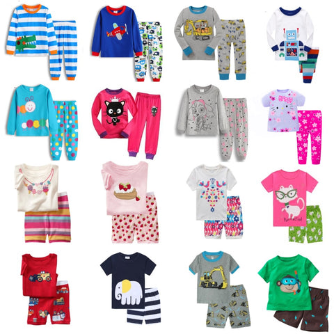 Hooyi Baby Boys Pajamas Suit Girls Sleepwear Sleep Suits Kids T-shirts Pants Children