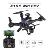 5.8G FPV Quadcopter X191 2.4G 4CH 2.0MP HD Camera Drones GPS RTH Height Hold RC Helicopter Built in Battery Outdoor Toys for boy