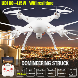 LiDiRC FPV Drone L15/L15W  WiFi Camera Real Time Video RC Quadcopter 2.4G 6-Axis RC Helicopter Toys