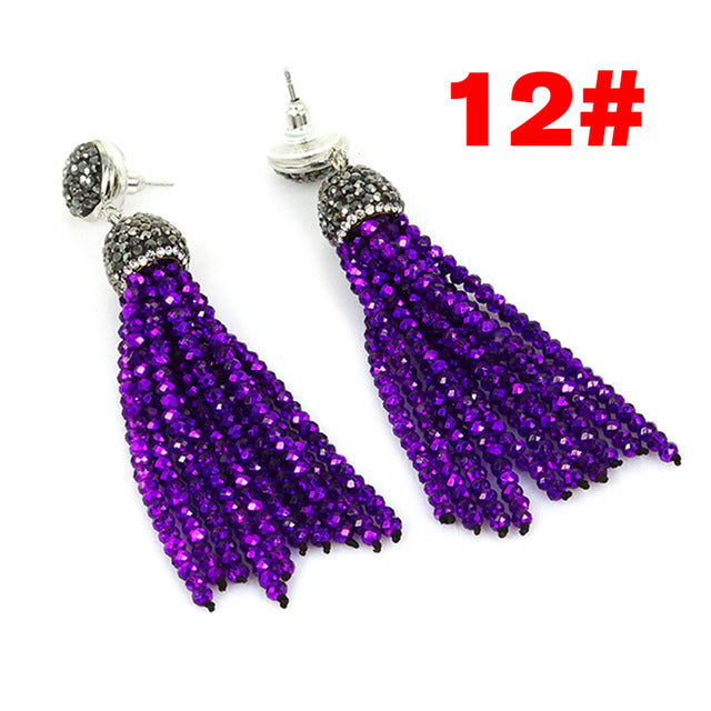 Kejialai 2017 New Fashion Women Drop Earrings Vintage Dangle Earring For Female Glass Ethnic Tassel Women Retro Jewelry KJL001
