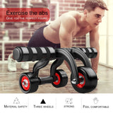 3-Wheel Fitness Abs Wheel Roller with Quiet Bearing Abdominal Workout Muscle Exercise