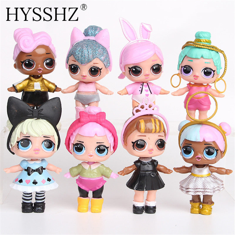 8pcs/lot LoL Doll Unpacking High-quality Dolls Baby Tear Open Color Change Egg LoL Doll Action Figure Toys Kids Gift