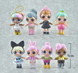 8pcs/lot 9cm LOL Girl Sisters Doll Baby Tear Action Figure Toy