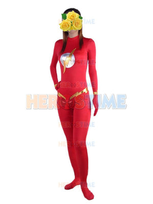 The Flash  Red Spandex  Superhero Costume  Catsuit