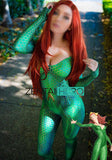 3D Printed DC Marvel Quinn Mera Costume Justice League Costumes Tight Catsuit