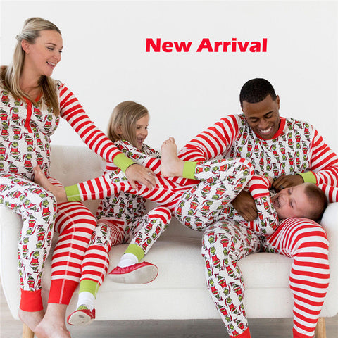 New Year Costumes For Family Christmas Costumes Family Matching Pajamas Adult Women Men Kid Baby Sleepwear Nightwear Family Look