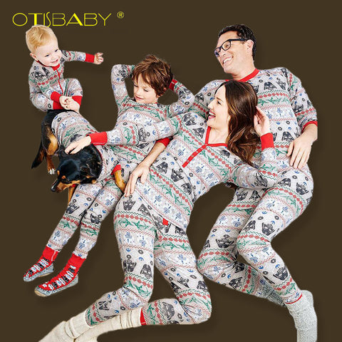 Christmas Pajamas Family Matching Clothing  Rompers