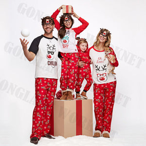 PUDCOCO Newest Hot Family Matching Christmas Pajamas PJs Sets Xmas Sleepwear Casual Nightwear T-Shirt +Pants