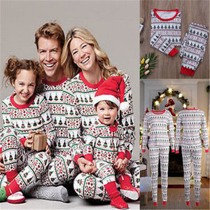 Fairy Christmas Family Matching Clothes 2017 Winter Pajamas Sets Adult Women Men Kids Sleepwear