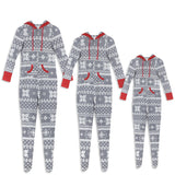 2018 Fashion Family Matching Outfits Men Women Kids Baby Christmas Hooded Pajamas Sets