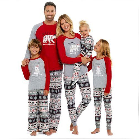 Family Matching Clothes Xmas Fairy Christmas Family Pajamas Set Adult Women Kids Sleepwear Nightwear