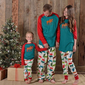2017 New year Christmas Homewear pajamas pattern pajama sets Family Matching Outfit sets parents kids Boys Girls clothes A74 27