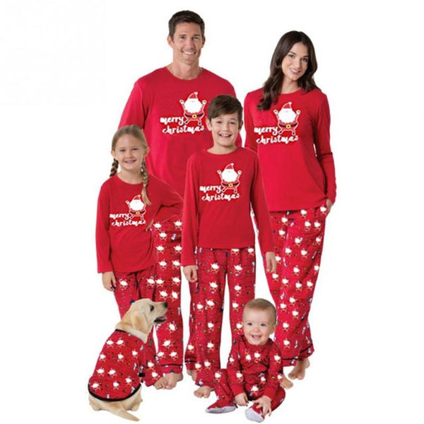2017 Christmas Family Matching Pajamas Set Homewear Sleepwear Parents Kids Outfits