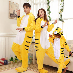 Family Matching Clothes Animal One-piece Style Thickening Pajamas Family Christmas Pajamas Winter Flannel Cartoon Living Clothes
