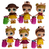 1/3/6pcs  Dress Up Figure Toys Dolls Anniversary Edition