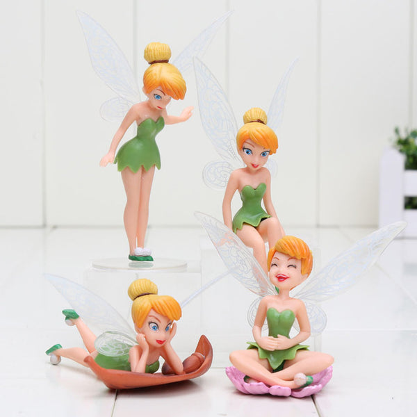 4pcs 6pcs Princess The Tinker Bell Fairy PVC Action Figures Set Girls Gift Toys Dolls Brinquedos