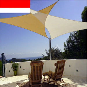 Outdoor Courtyard Swimming Pool Anti-UV Waterproof Triangles Sun Shade Sail Shade Net Awning Gazebo Canopy Shading