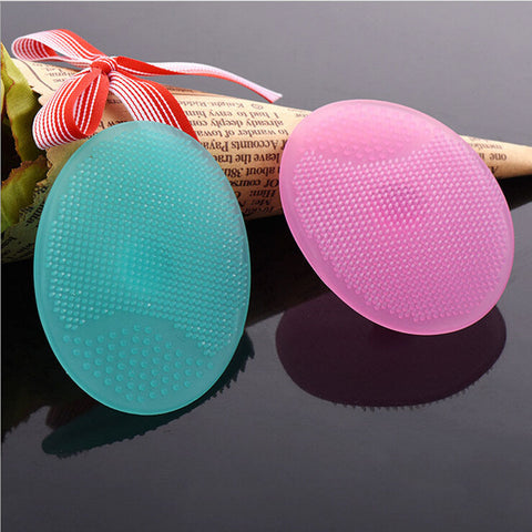 Infant Baby Soft Silicone Wash Face Cleaning Pad Skin SPA Scrub Cleanser Tool
