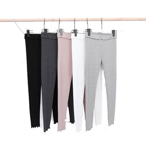 Female Elastic Cashmere Casual Pants Fashion Ribbed Pants