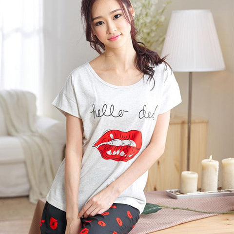 Pajama Adulto Shorts Pajamas Sets For Woman Cotton Spring Summer Pajamas