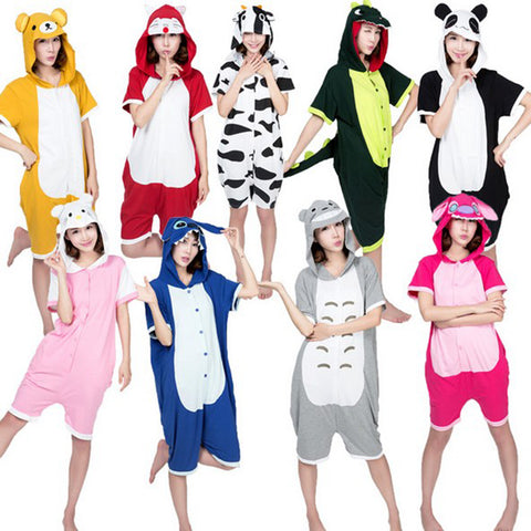 Animal Pajamas Panda Pikachu Unisex Hooded Pajamas Costume Animal Onesies Sleepwear