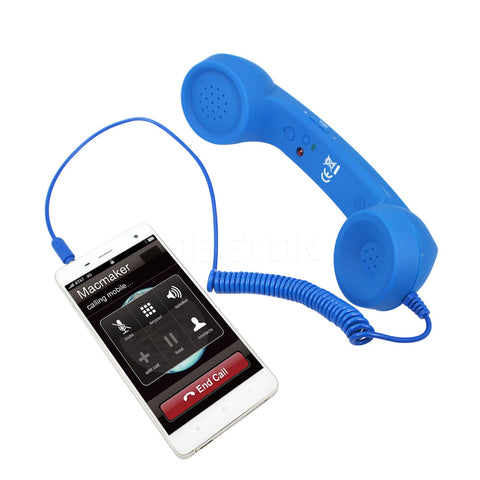 Promotional Gift 3.5mm Mic Retro Telephone Handset  Receiver Cell Phone Receiver Microphones