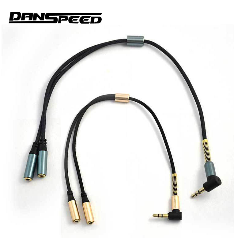 0.98ft 0.3m 3.5mm Male to Female Audio Extension Stereo Cable For Car Cell Phone PC MP3