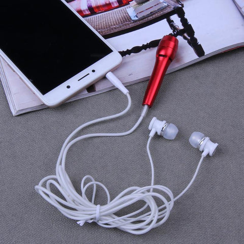 3.5mm Wired Mini Cell Phone Chatting Singing Microphone Stereo Mic