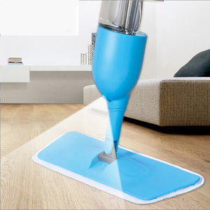 Microfiber Hand Washing Cloth Spray Water Spin Mop Dust Floor Cleaning Sweeper