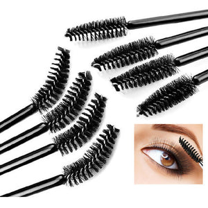 50Pcs/Pack Disposable Micro Eyelash Brush Mascara Wands Applicator