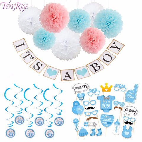 Baby Shower Decoration Newborn Its A Boy Girl Photo Booth Props