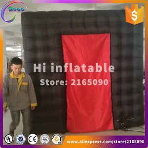 black photobooth background oxford inflatable photo booth shell