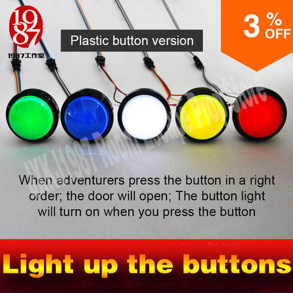 5 buttons for real life room escape room game props for escape room  light up