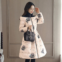 Winter Coat  Women Slim Waist Cloak Skirt Coat Women