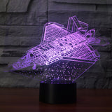 3D Illusion Night Light  LED Light 7 Color with Touch Switch Plane-3