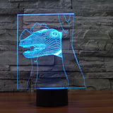 3D Illusion Night Light  LED Light 7 Color with Touch Switch USB Cable Nice Gift Home Office Decorations,Dinosaur-5