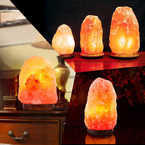 110V Himalayan Natural Air Purifier Salt Lamp Rock Crystal Tower Dimmer Switch
