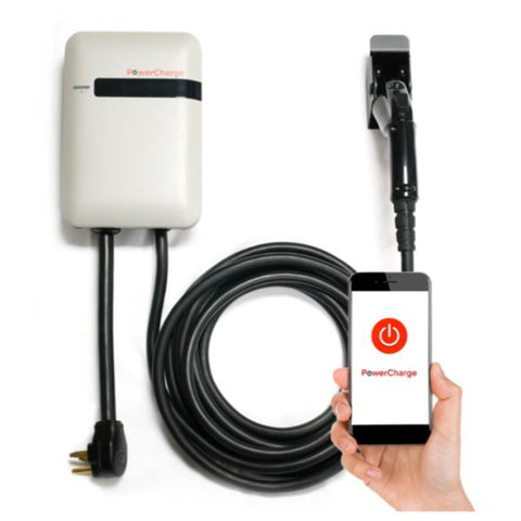 PowerCharge Energy Connect Smartphone Series Residential Home Plug-in EV Electric Vehicle Charger